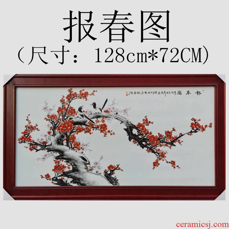 Jingdezhen painting masters hand - made harbinger figure oversized porcelain plate painting the living room wall to hang a picture to Chinese ceramic art