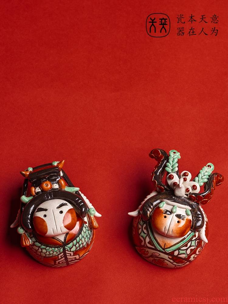 "The fat ""furnishing articles decoration day Wilson of jingdezhen ceramic tea zen tea taking creative play sweet tea"