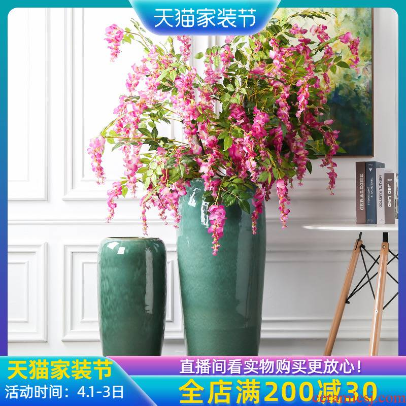 Jingdezhen up porcelain landing big vase fake flowers furnishing articles sitting room furniture decoration landing simulation flower