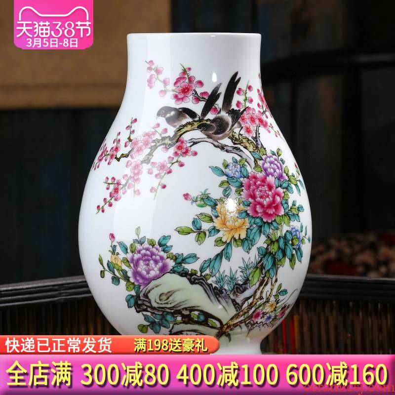 Jingdezhen ceramics vase furnishing articles flower arranging big sitting room wide expressions using dry flower of TV ark, of Chinese style household ornaments