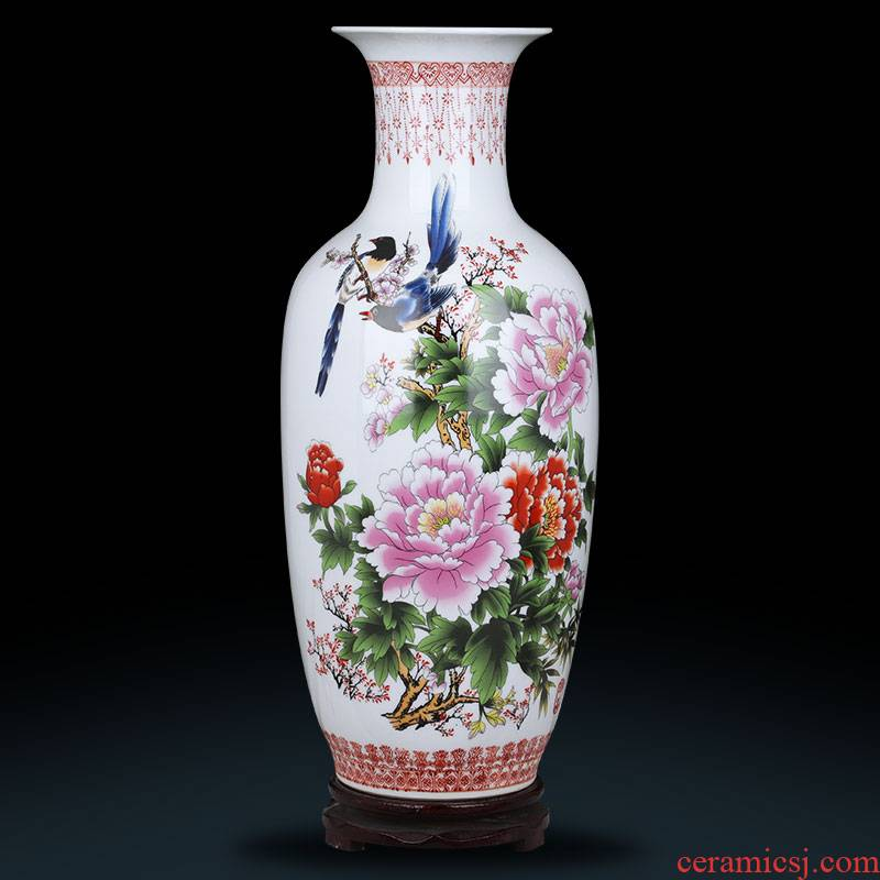Jingdezhen ceramics lucky bamboo study restoring ancient ways of large vase furnishing articles sitting room TV ark, ikebana arts and crafts