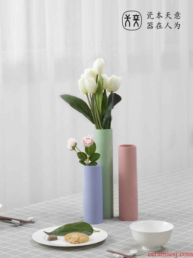 While the dragon day yi ceramic vases, flower arrangement table furnishing articles desktop decoration flowers contracted and I sitting room