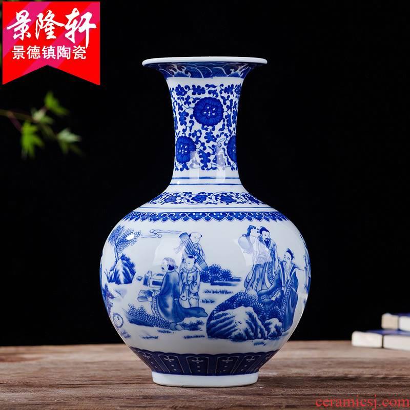 Archaize sitting room of jingdezhen porcelain Archaize ceramic vase ornamental furnishing articles vase of blue and white porcelain vase