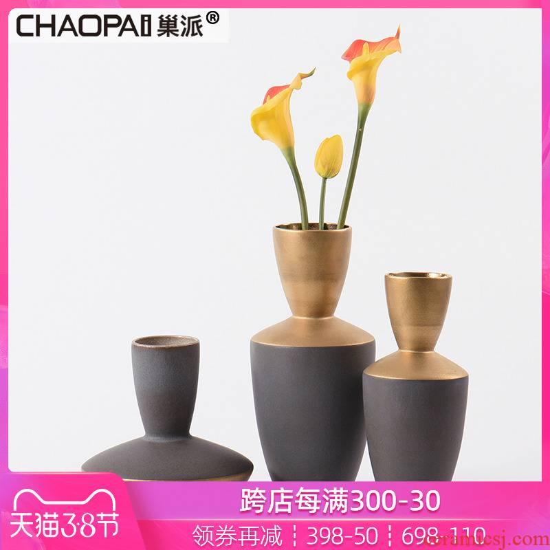 New classical matte enrolled porcelain vase decoration expo exhibition shelves antique flower arranging flower shelf, desktop soft outfit furnishing articles