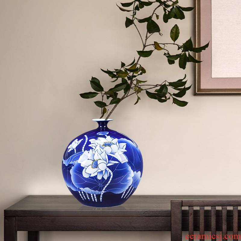 The Master of jingdezhen ceramic bottle hand - made lotus furnishing articles new Chinese flower arranging rich ancient frame sitting room decoration