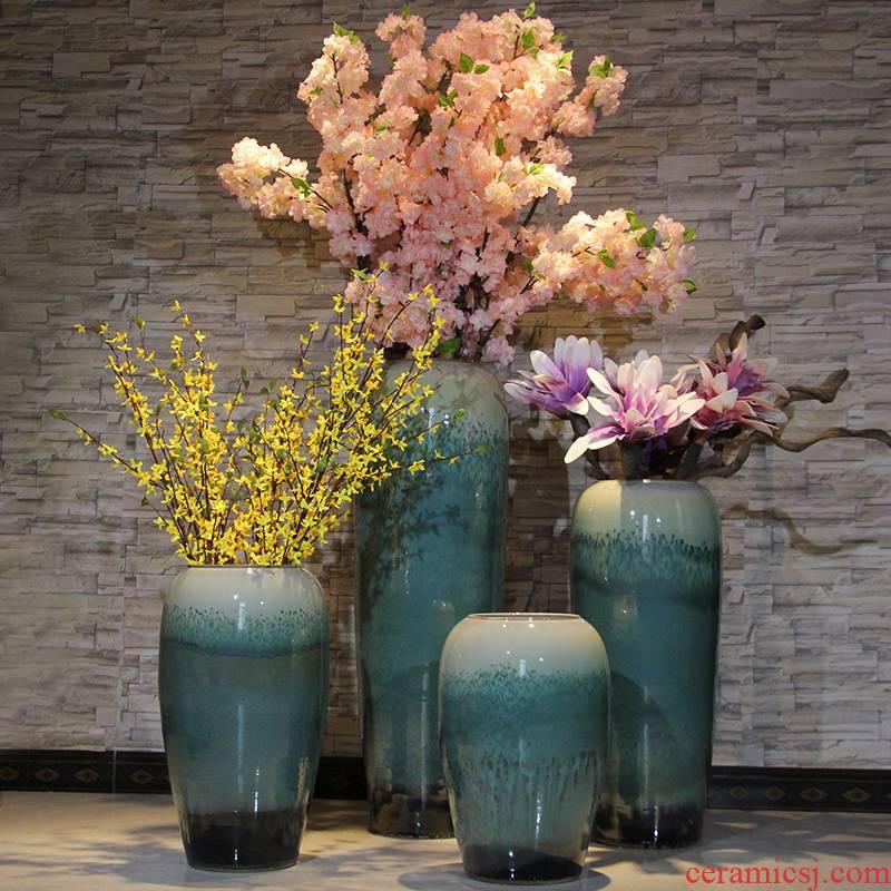 Modern example room jingdezhen ceramic floor vase flower arrangement sitting room place villa hotel pottery decoration