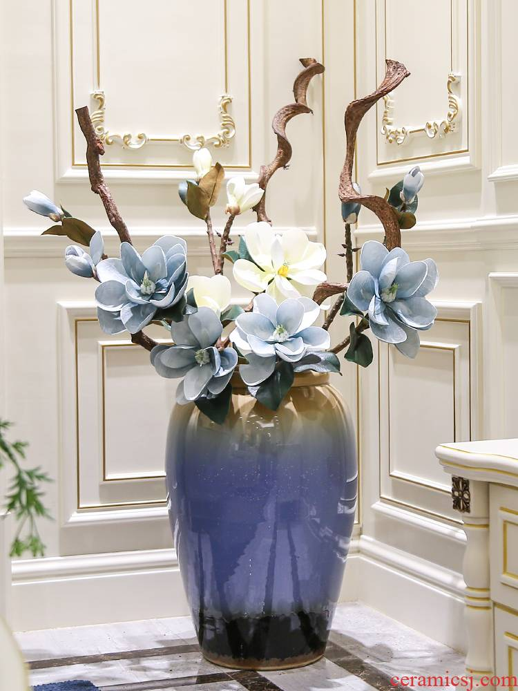 Nordic vase landing, the sitting room is I and contracted dry flower arranging flowers, flower implement household ceramics furnishing articles tall decorations