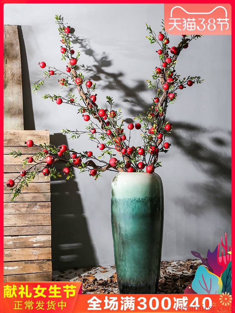 New Chinese style restoring ancient ways of jingdezhen nostalgic ceramics landing big flower vase decoration to the hotel the sitting room porch decoration simulation