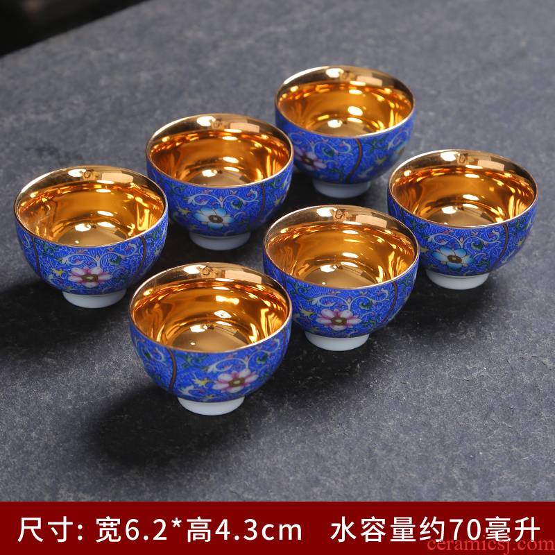 999 silver embroidered flowers single coppering. As the sample tea cup silver colored enamel, grilled cup sample tea cup checking ceramic masters cup
