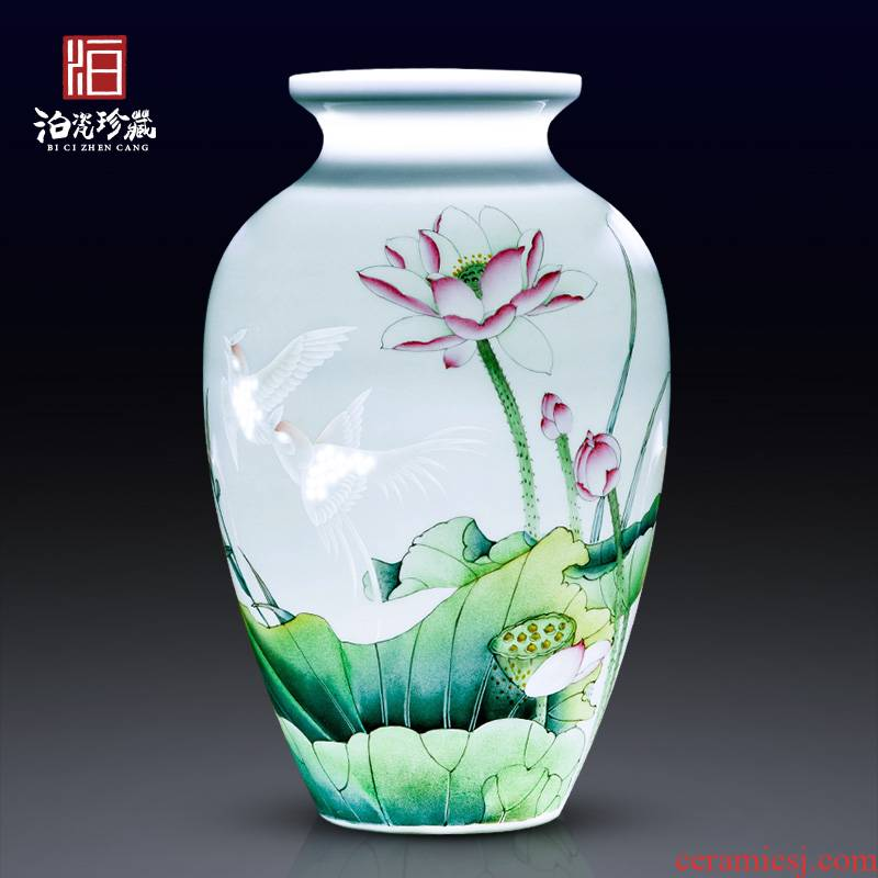 Jingdezhen ceramic hand - drawn does vase household bedroom living room TV ark adornment collection of new Chinese style furnishing articles