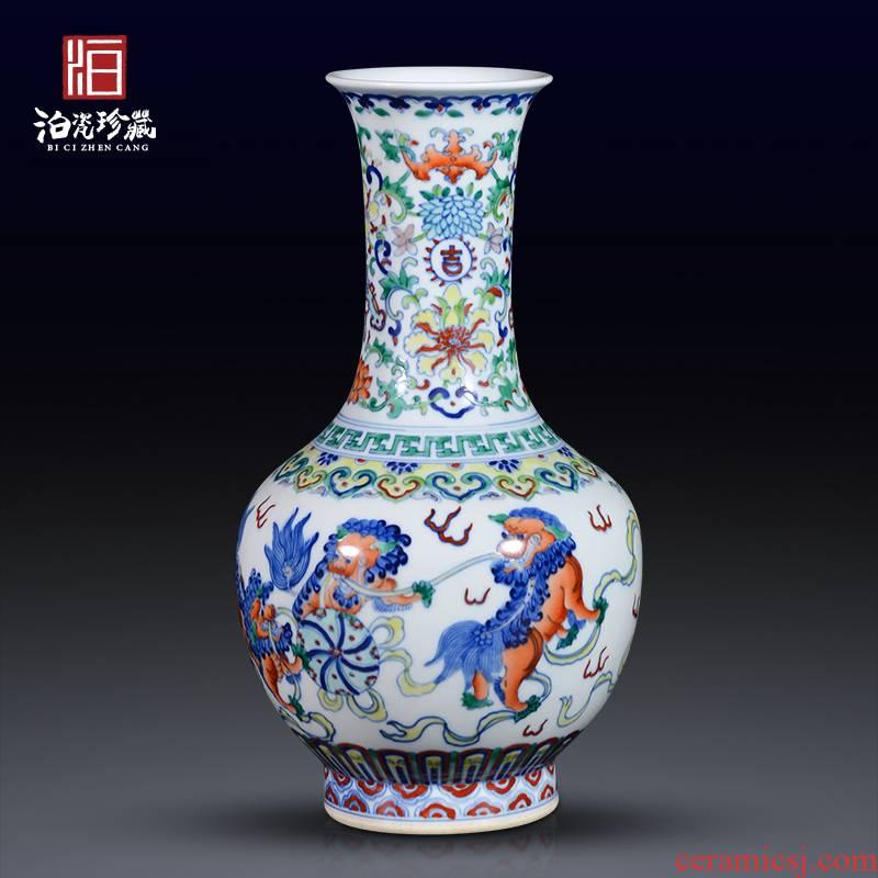Jingdezhen ceramics crafts flower arrangement sitting room home sitting room porch TV ark adornment floret bottle furnishing articles