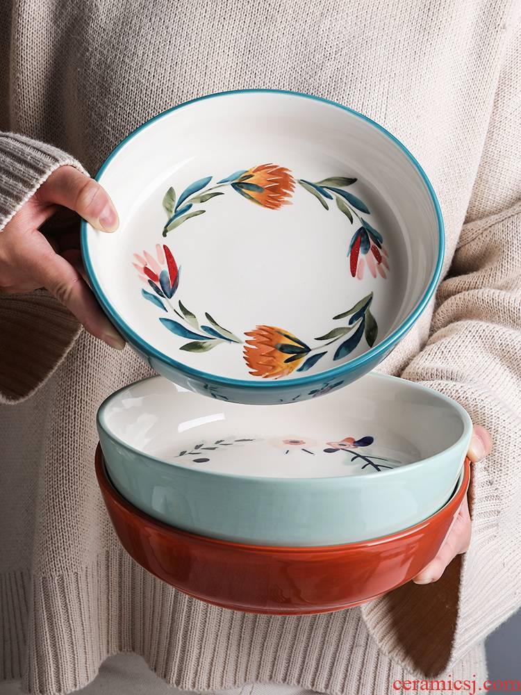 Shed in the four seasons under glaze color porcelain tableware household dish dish dish soup bowl bowl rainbow such as bowl of fruit salad bowl dishes