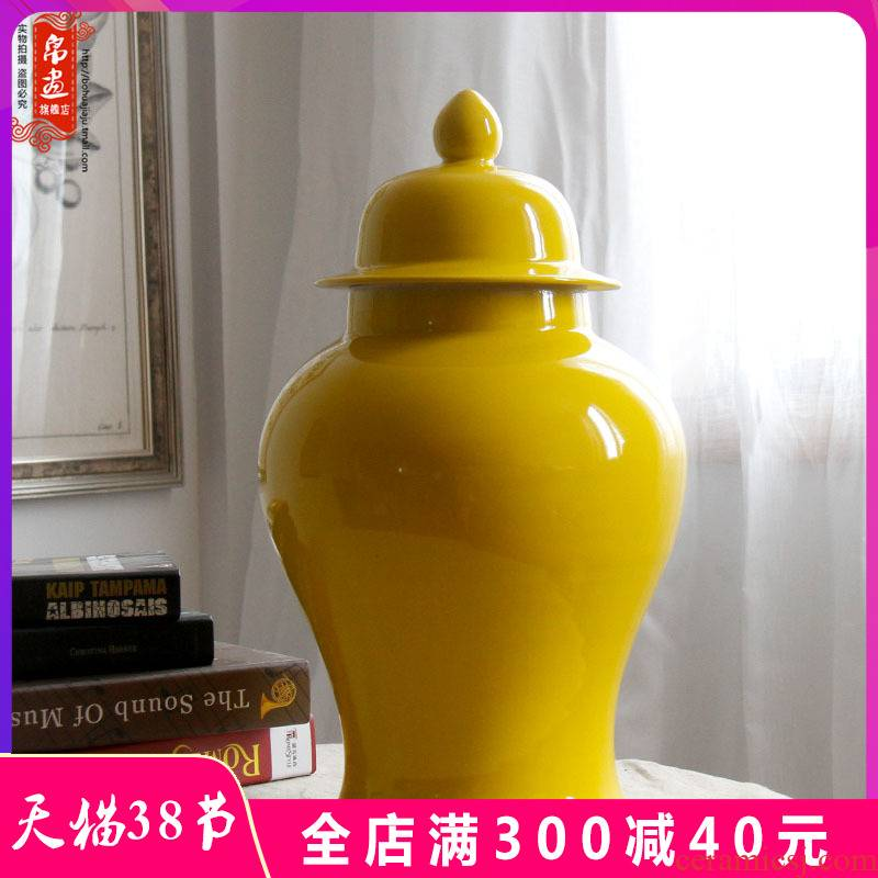 Porch receive general furnishing articles jingdezhen vase as cans sitting room TV ark adornment grain dry flower simulation flower arranging flowers