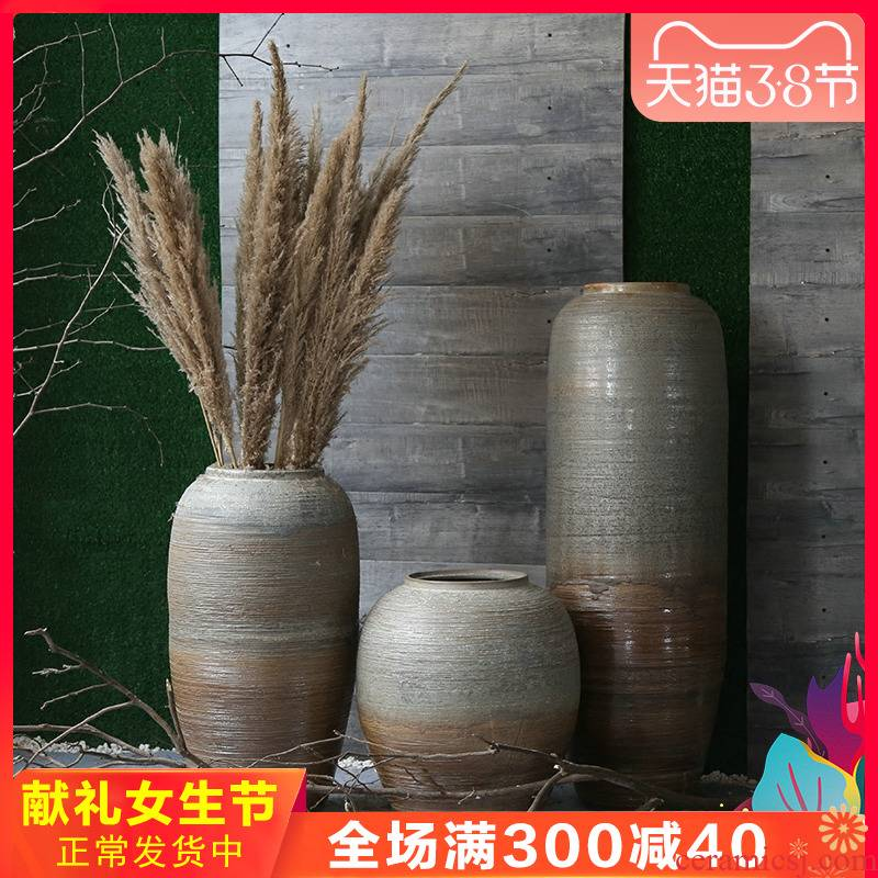 Retro nostalgia vases, flower implement theme club between example garden of large flower porcelain decorating the living room