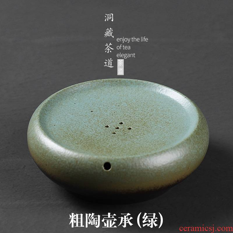 Thick clay POTS in floor bearing Japanese round tea bearing square dry plate ceramic pot of small water storage of tea table