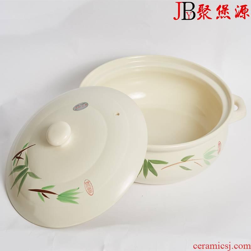 Old duck pot ceramic high - temperature ceramic pot casserole pot pot stew pot soup pot super capacity red pot soup pot