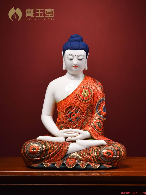 Figure of Buddha enshrined furnishing articles jian - pin Lin yutang dai ceramics craft art master works of the three holy D26-08/China