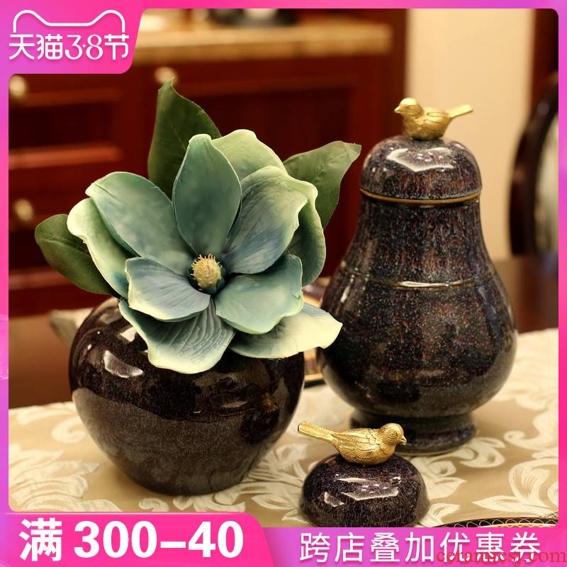 New Chinese style table decorations furnishing articles between example ceramic vase American TV ark, sitting room porch desktop decoration