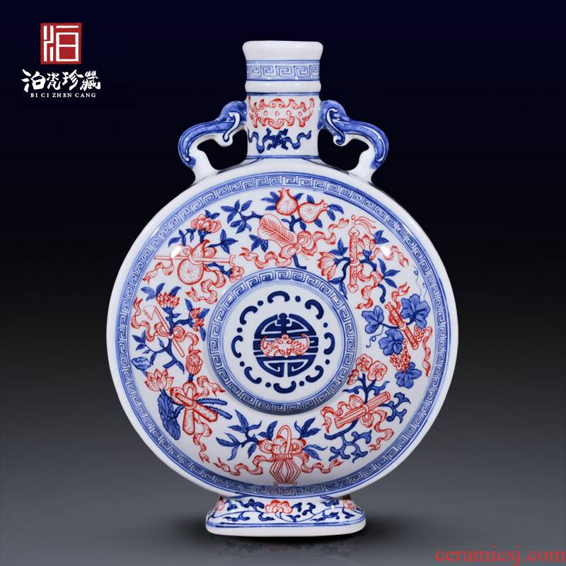 Jingdezhen ceramics hand - made imitation the qing qianlong youligong sweet vase on the living room and home furnishing articles