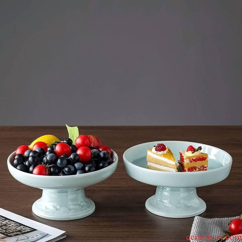 Jingdezhen ceramic best dim sum of fruit snacks, celadon home European creative desktop furnishing articles sitting room tea table