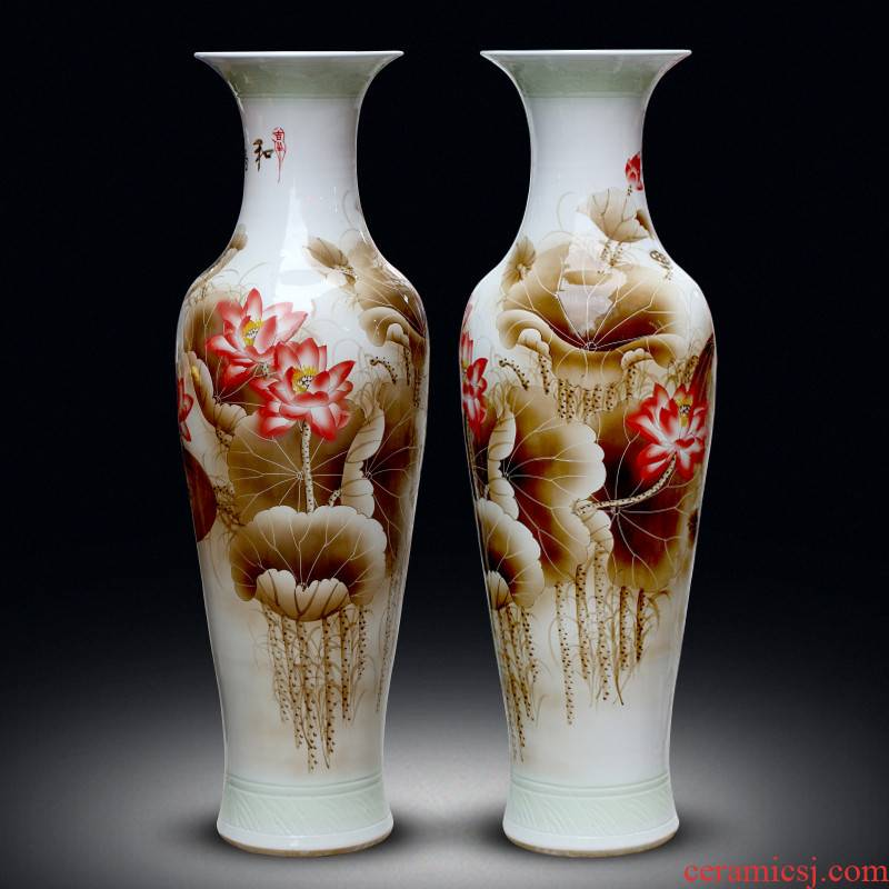 Jingdezhen ceramics hand - made harmony landing large vases, home sitting room hotel villa decorations furnishing articles