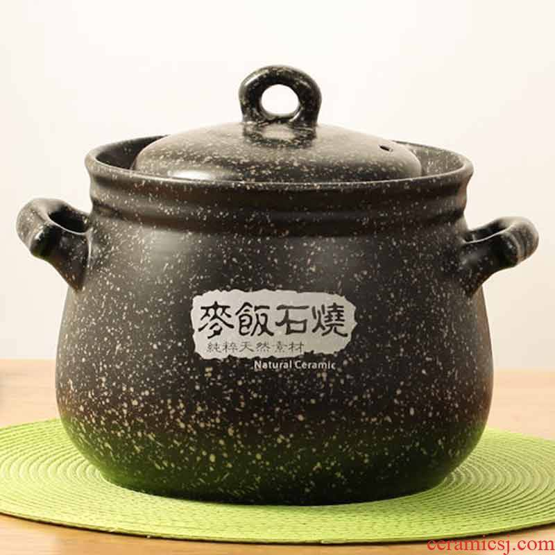 Household simmering casserole stew ceramic flame to hold to high temperature hot pot earth stone bowl of soup pot of porridge
