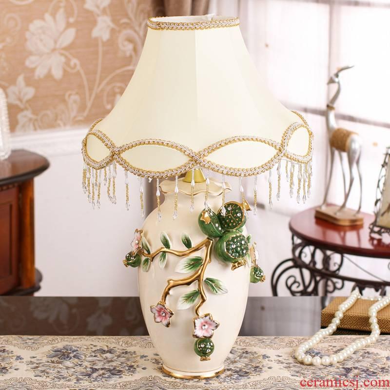 SAN road fort European household decoration room living room adornment bedroom sweet American ceramic lamp