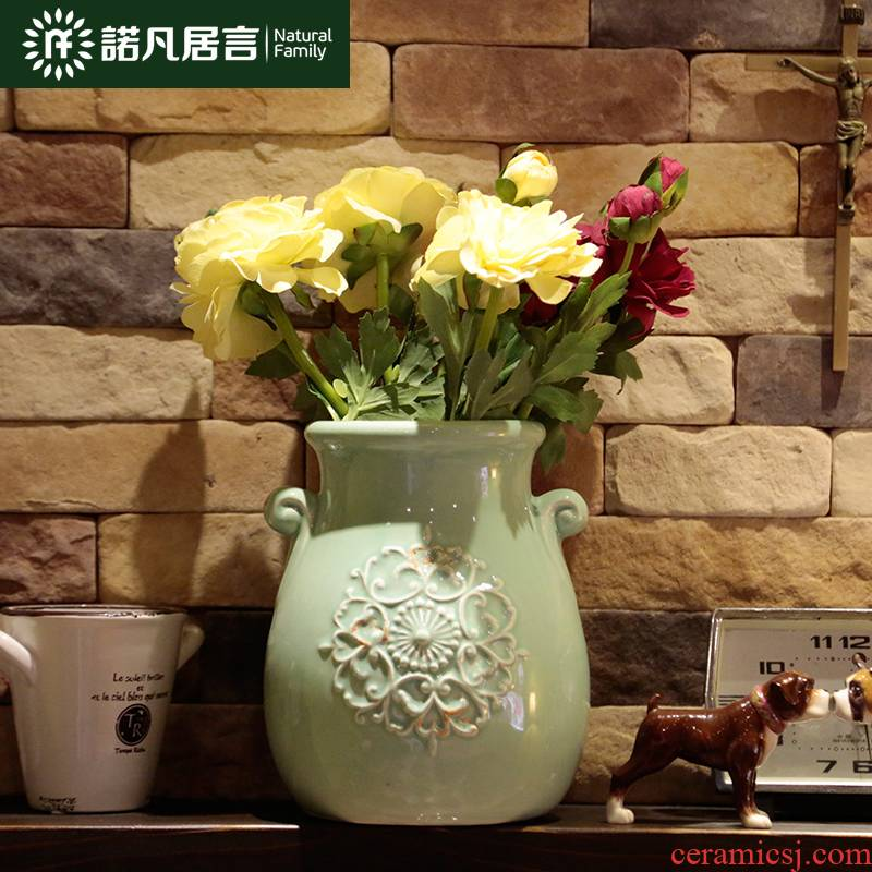 And every American Mediterranean ceramic vase suit household act the role ofing is tasted furnishing articles do old rural simulation table