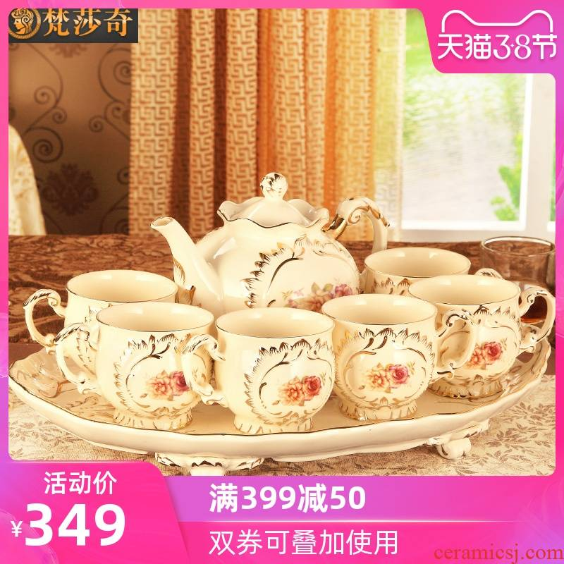 The Vatican Sally 's European ceramic cup tea package tray of household contracted sitting room tea cups suit small key-2 luxury