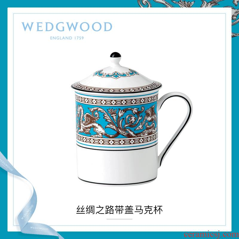 Ipads China WEDGWOOD waterford WEDGWOOD silk road mark cup of coffee cup with cover glass cup cup home