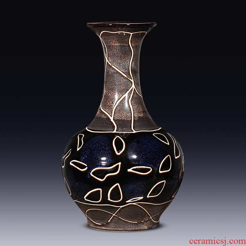 Archaize of jingdezhen ceramic vase creative contracted sitting room flower arranging furnishing articles wine cabinet decoration home decoration