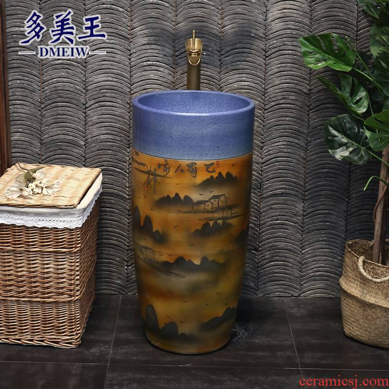 King beautiful ceramic column type restoring ancient ways the lavatory archaize is suing hand washing basin bashu others column column of the home stay facility
