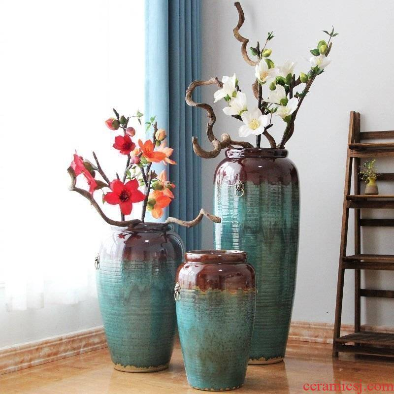 Jingdezhen ceramic vase of large hotel hotel sales department between example large vases, flower, flower arranging furnishing articles