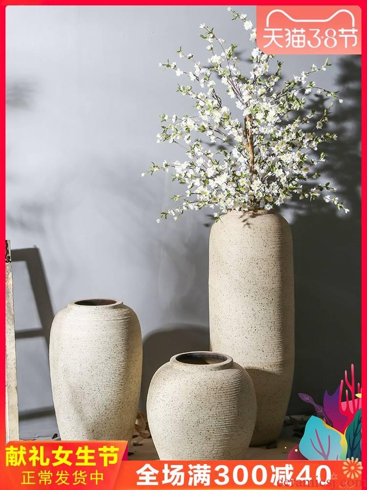 Jingdezhen ceramic floor nostalgic restoring ancient ways vase hotel coarse TaoHua between sitting room, dining - room study example furnishing articles