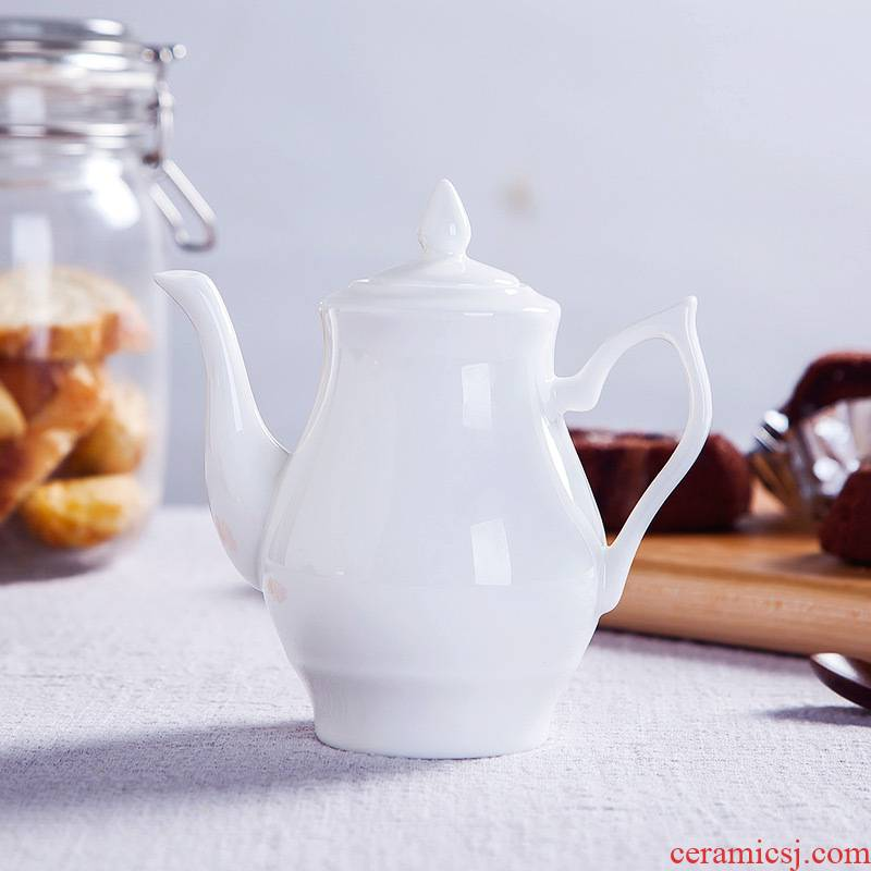 Pure white ipads porcelain oil can small oil sauce pot seasoning bottle table vinegar jug of soy sauce pot of 320 ml