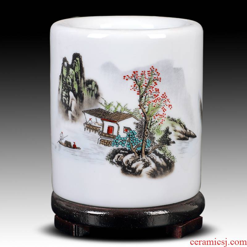 Archaize of jingdezhen ceramics powder wariety pen container creative study adornment fashion office furnishing articles the teacher 's day gifts
