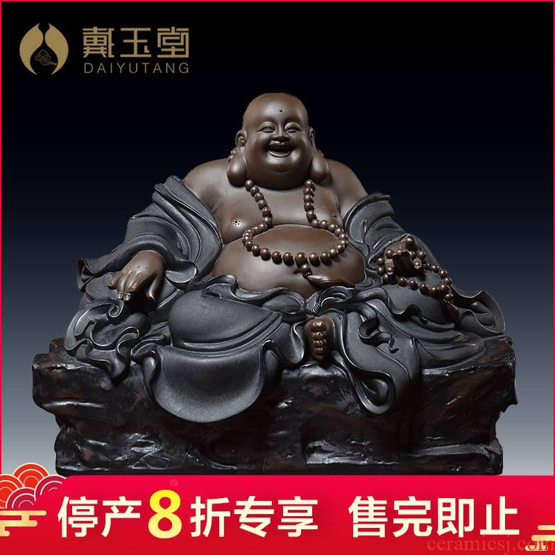 Ceramic production is pulled from the shelves 】 【 maitreya, black cloth bag of maitreya