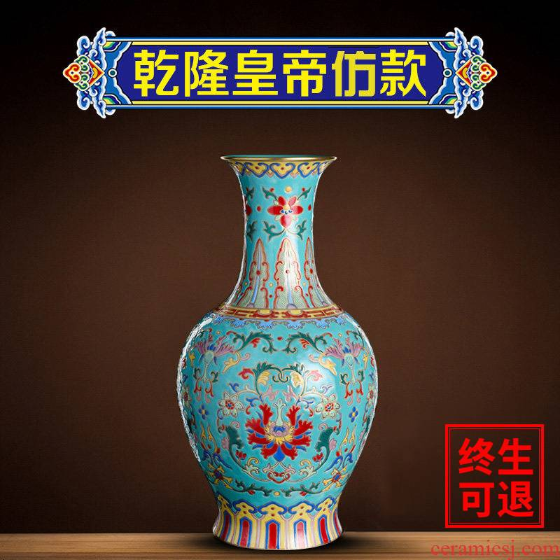 Better sealed up with archaize sitting room of new Chinese style ceramic furnishing articles jingdezhen porcelain of goddess of mercy bottle vase household large sitting room
