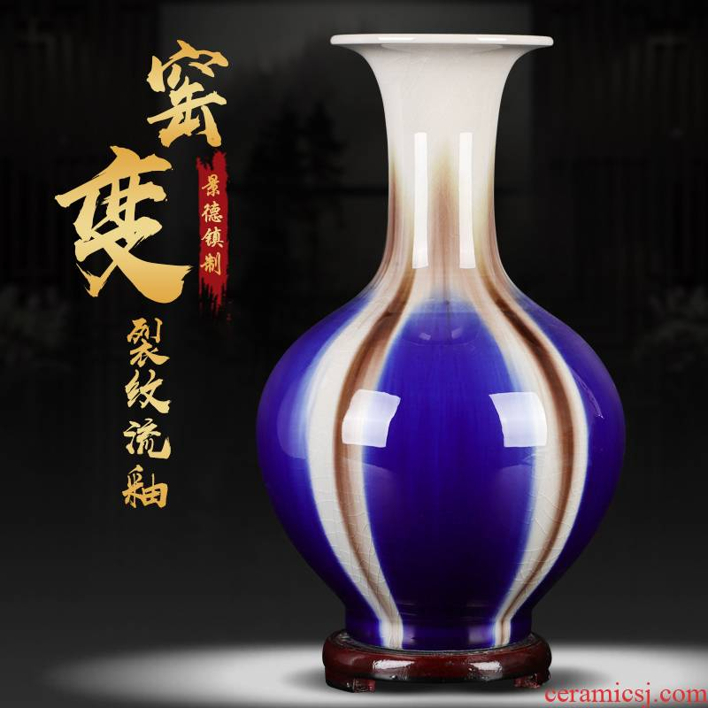 Modern creative up with jingdezhen ceramic vase sitting room place open piece of flower arrangement, wine cabinet mesa that occupy the home decoration