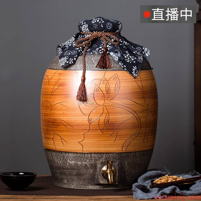 Jingdezhen ceramic jar jar jars 5/10/20 50 kg/home outfit mercifully wine special seal hoard it