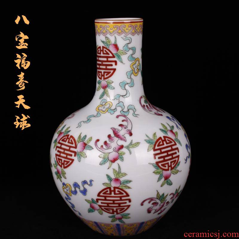 The see colour enamel jingdezhen qianlong tree to watch The king of porcelain bottles sitting room of Chinese style furniture decorative antique furnishing articles