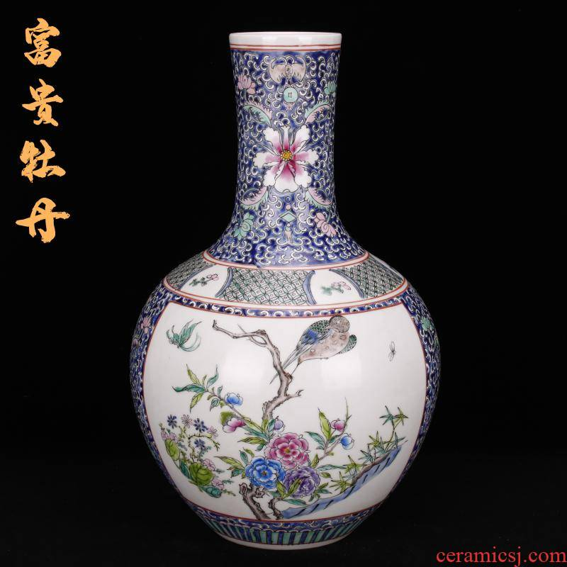 Jingdezhen imitation of the qing emperor kangxi hand - made vases, sitting room of the new Chinese style household decoration as antique antique penjing collection