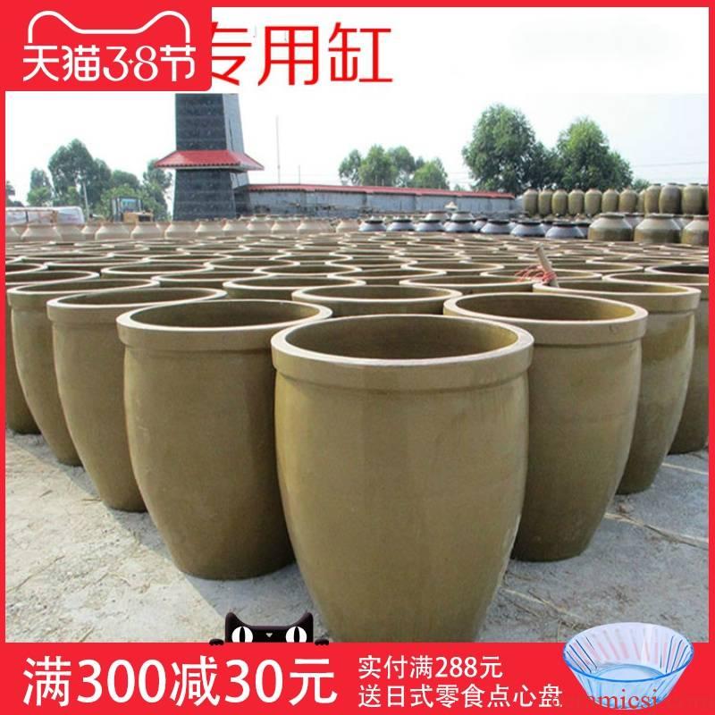 Ceramic water lily crude Ceramic water storage tank fermentation cylinder landscape GangPen courtyard home large fish lotus
