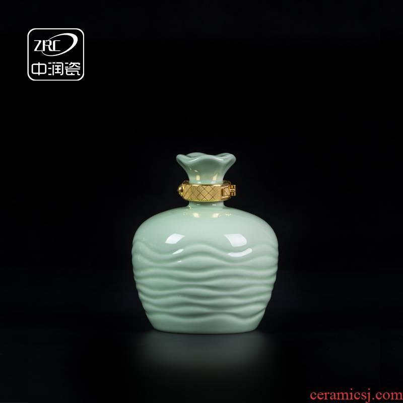 Jingdezhen ceramic bottle 1 catty empty bottles home antique white wine wine bottle seal small jars sealed bottles