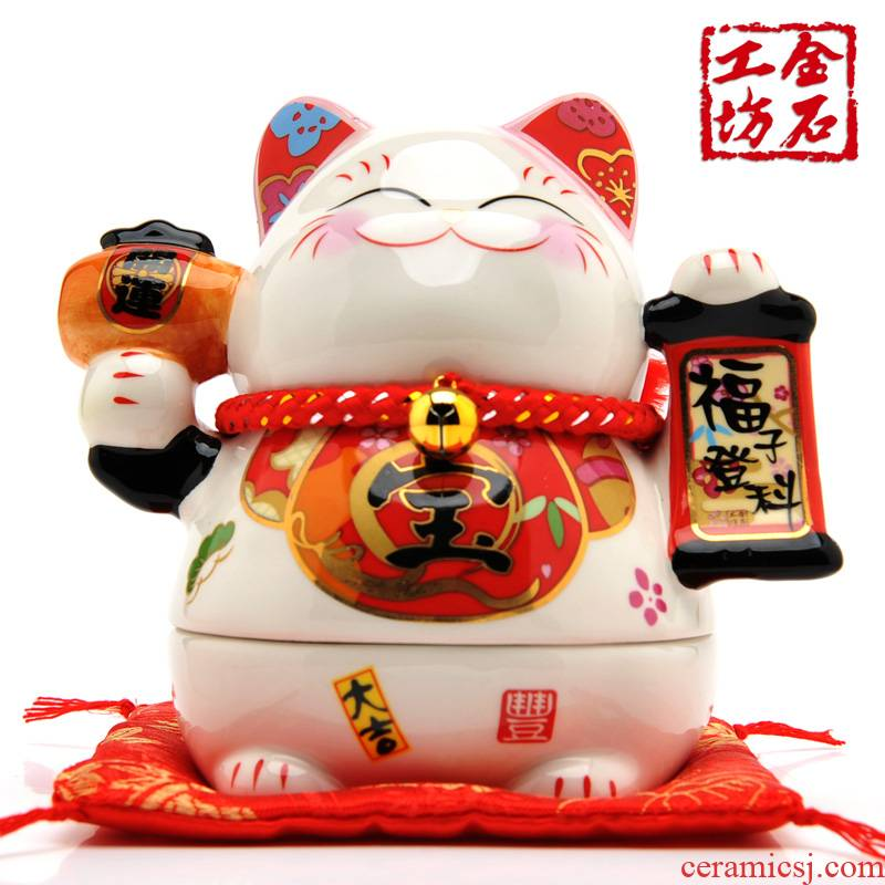 Stone workshop blessing child receive government degrees plutus cat ceramic new home furnishing articles creative wedding gift l