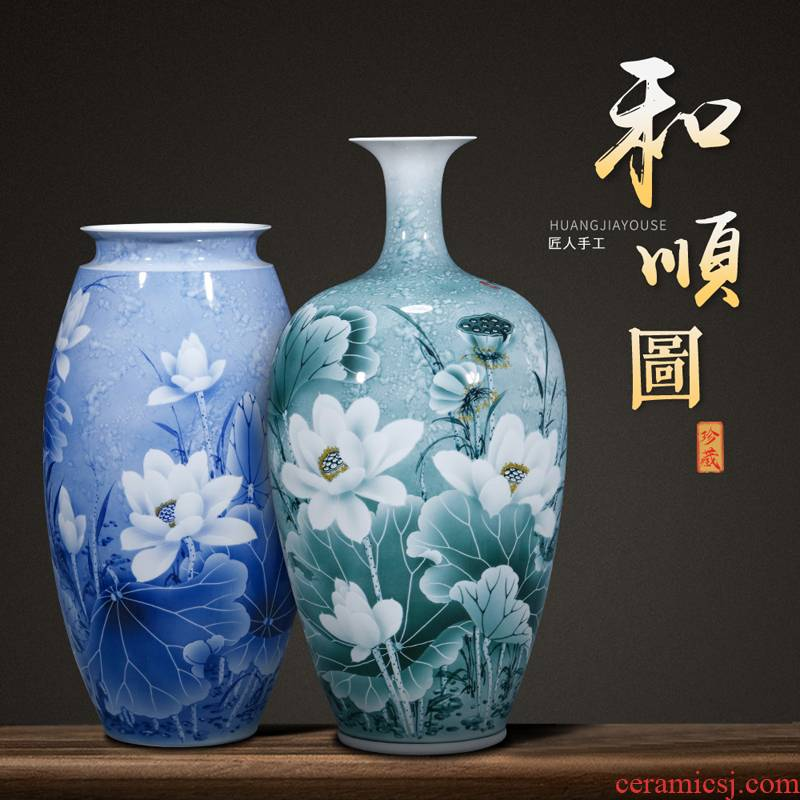 The Master of jingdezhen ceramics hand - made figure vase and Chinese style porch sitting room adornment handicraft furnishing articles arranging flowers