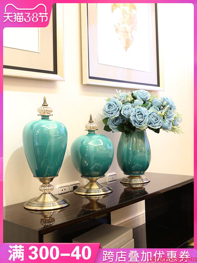 The sitting room porch ceramic vase furnishing articles artical home table dry flower arranging flowers, TV ark, adornment ornament