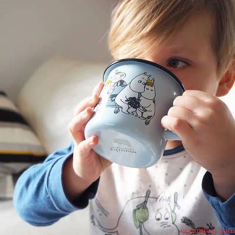 Keller Ming enamel cup moomin cup children ins coffee cup getting northern Europe