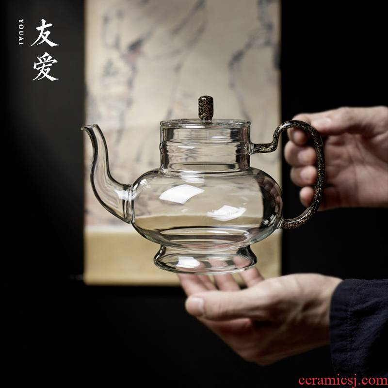 Love palace DengHu Taiwan and implement glass dazzle see colour series grain is boiling furnace curing pot of boiling water steaming tea machine electricity TaoLu home