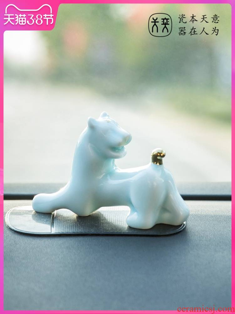"""Chinese zodiac tiger"" furnishing articles day yi ceramic decoration accessories car inside the car tiger high - grade his domineering"